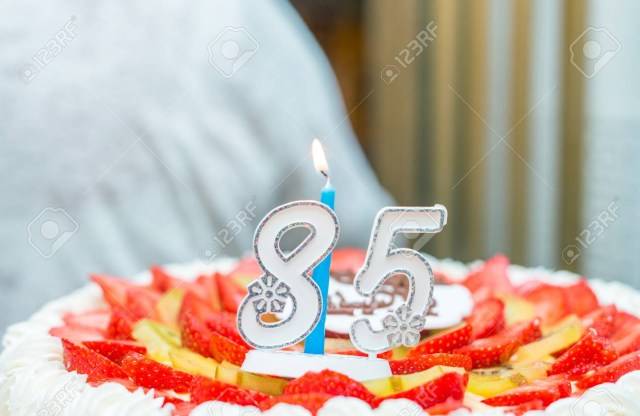 85Th Birthday Cake 85th Birthday Cake Stock Photo Picture And Royalty Free Image