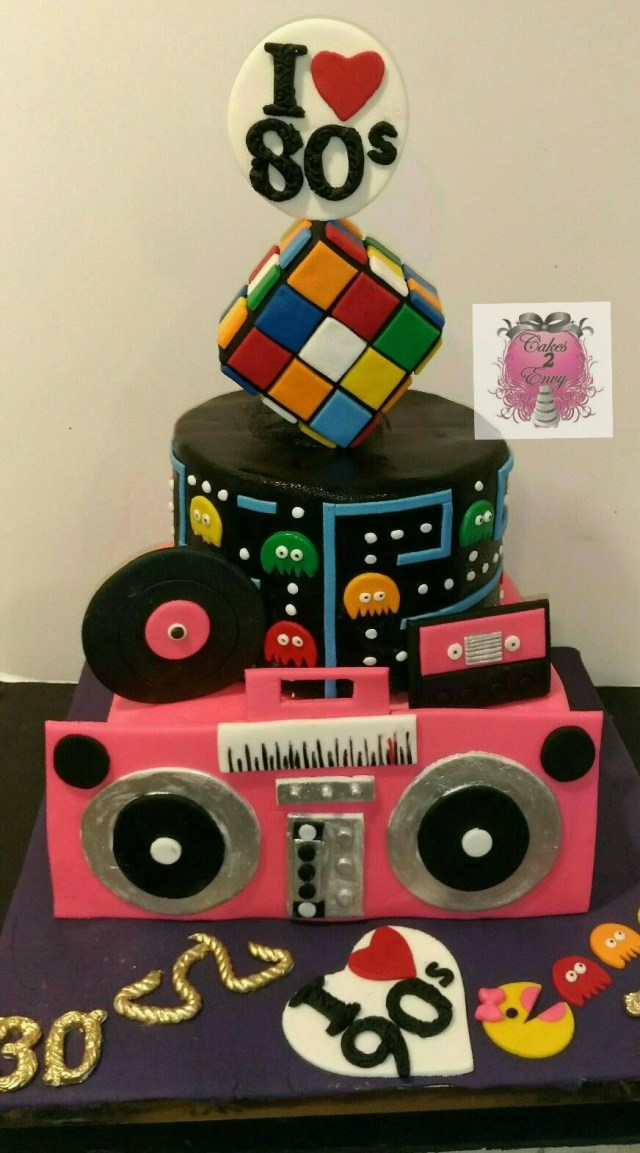 90S Birthday Cake 80s90s Themed Birthday Cake Wwwcakes2envy Cakes 2 Envy