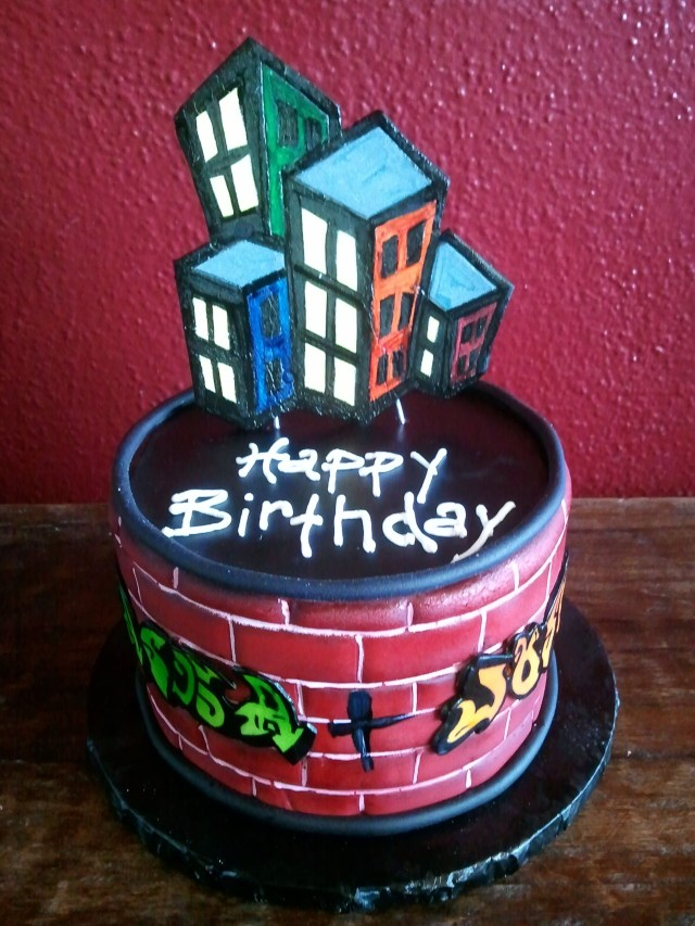 90S Birthday Cake Graffiti Birthday Cake Birthday Cakes Pinterest Birthday