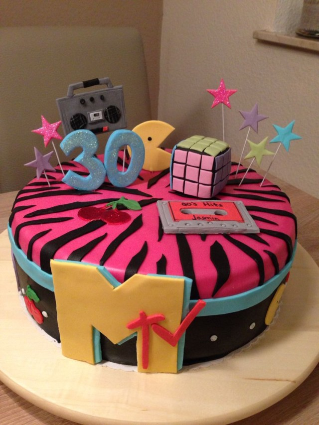 90S Birthday Cake Mtv 30th Birthday Cake 90s Party Pinterest Birthday 30th
