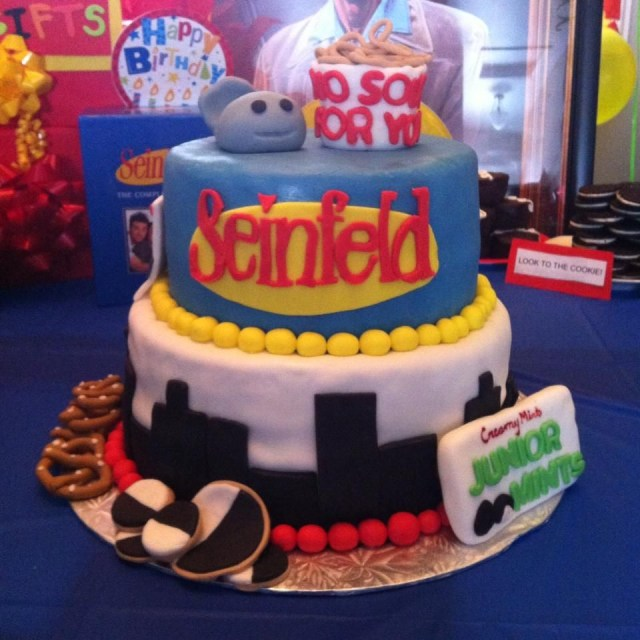 90S Birthday Cake Seinfeld Birthday Cake Edition Party Ideas Pinterest Cake