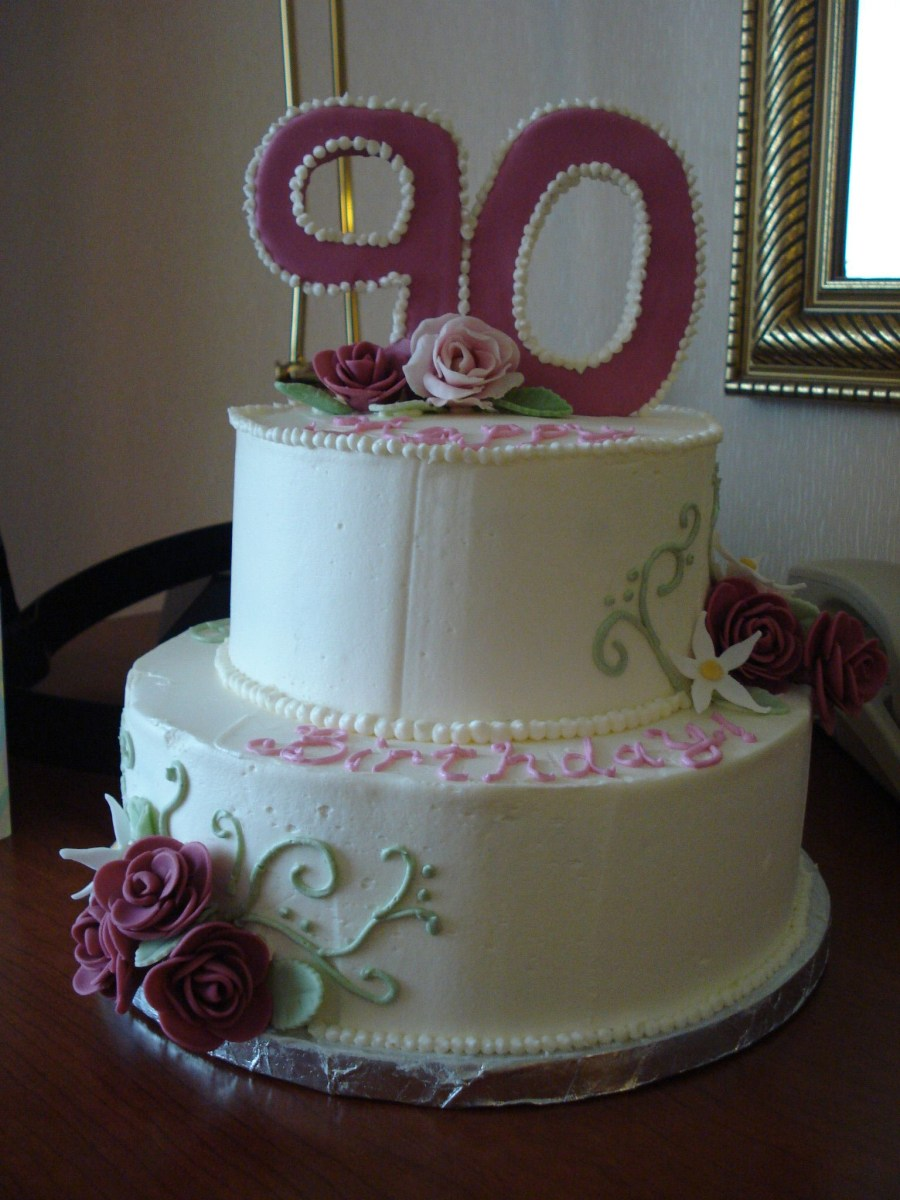 90Th Birthday Cakes 90th Rose Pretty And Desserts Pinterest
