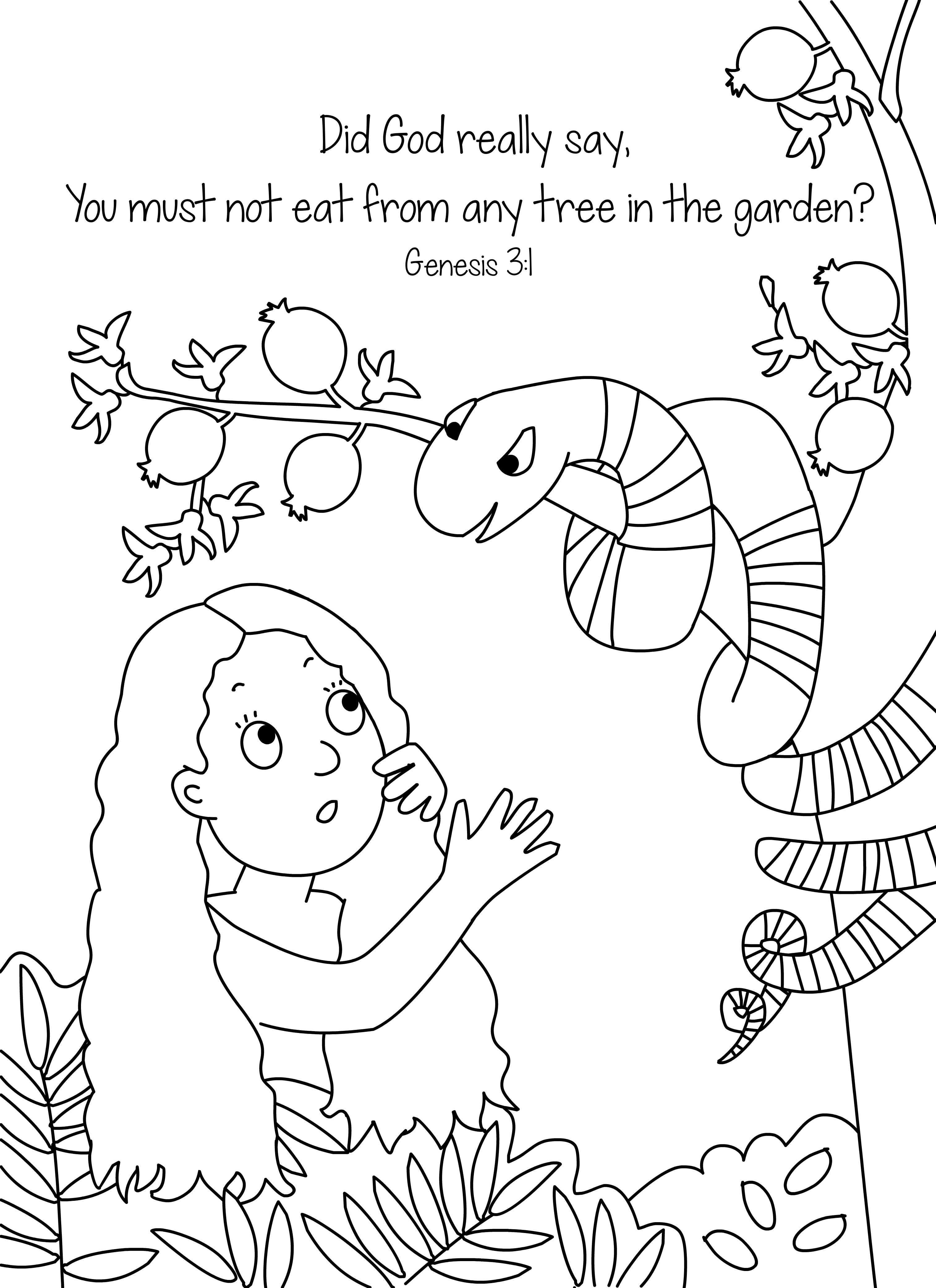 Top 25 FreePrintable Adam And Eve Coloring Pages Online | 4167x3028