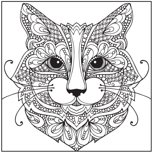 Adult Coloring Book Pages Coloring Page Coloring Bookages Wild About Cats Adult With