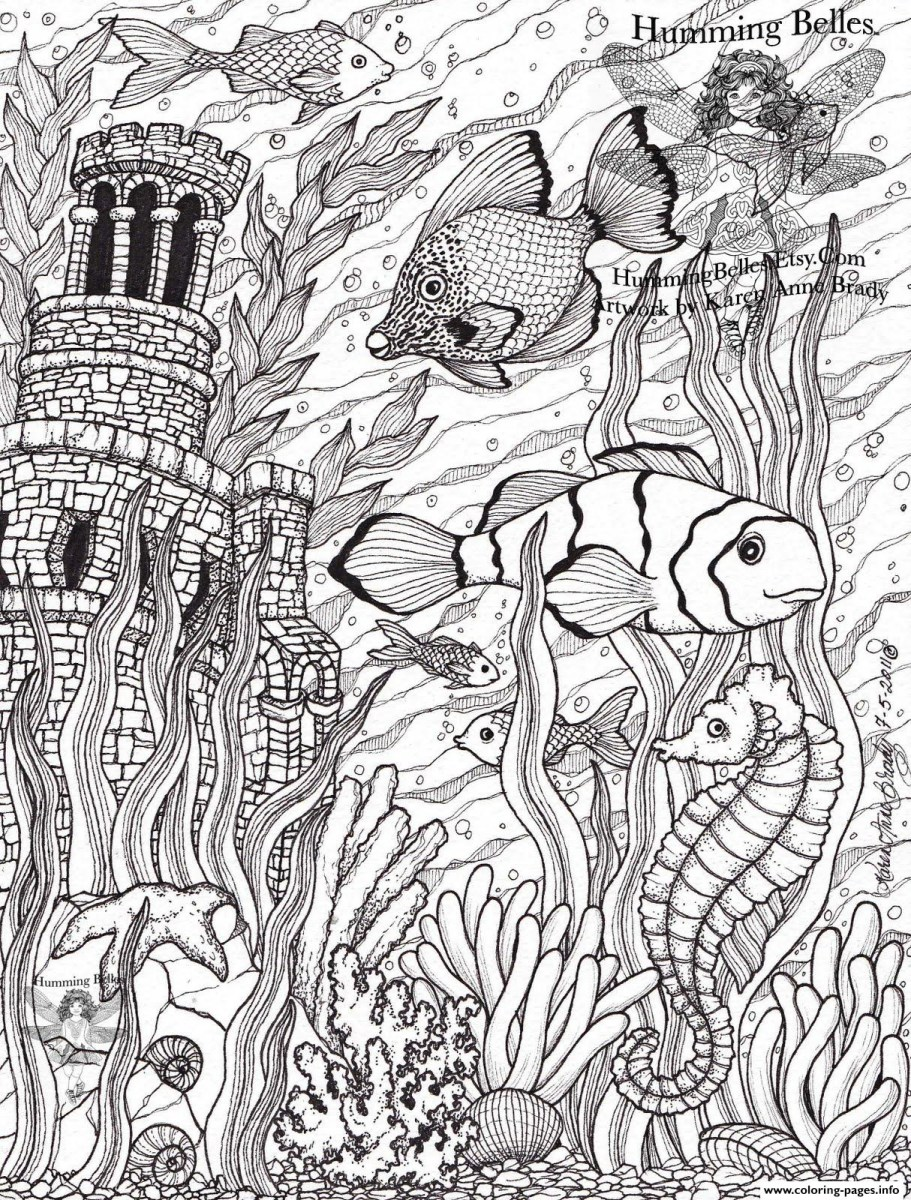 Adult Coloring Pages Hard Fish Adult Coloring Pages Printable