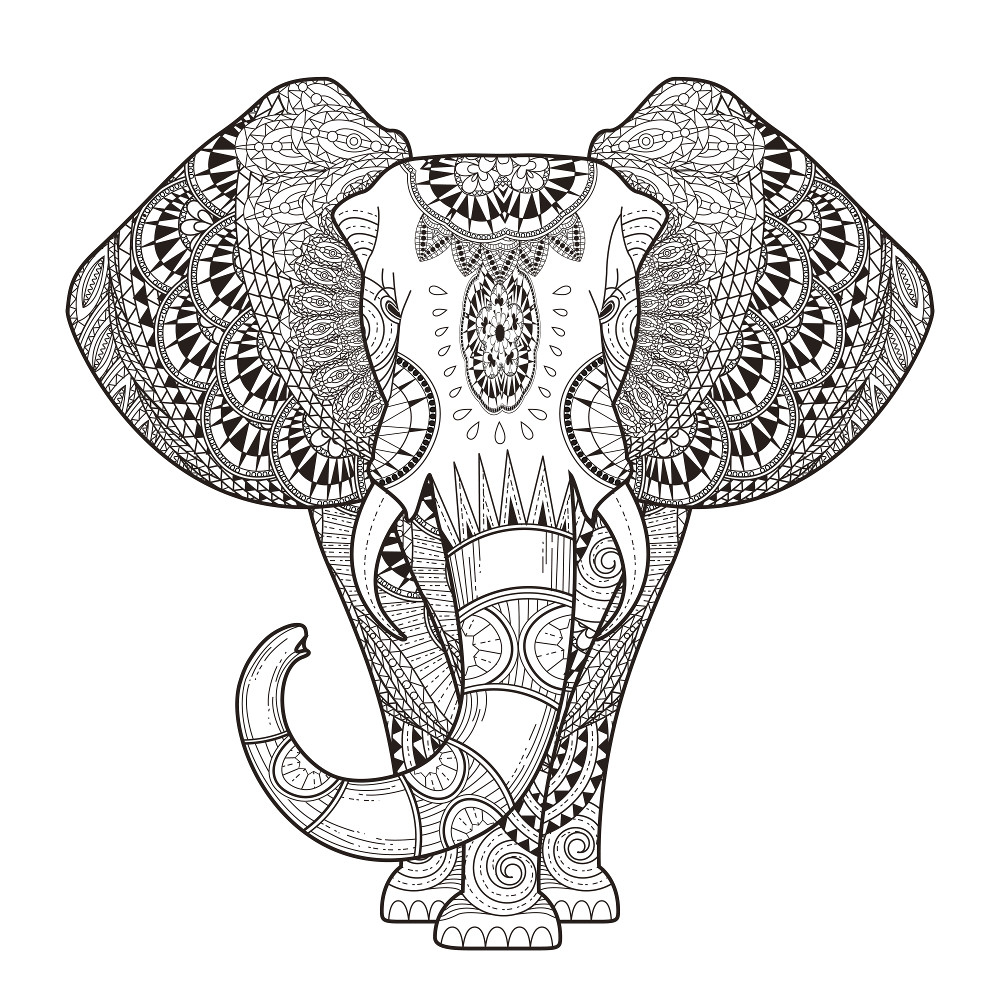 - Adult Coloring Pages Mandala Adult Coloring Pages 68 Elephant