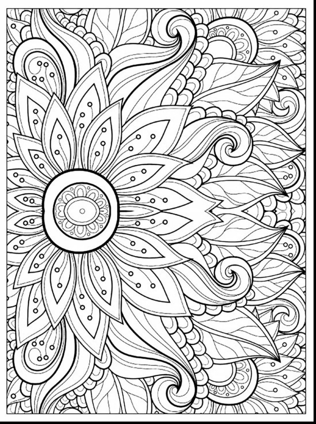Adult Free Coloring Pages Flower Coloring Pages For Adults Unique Flower Coloring Pages Adults