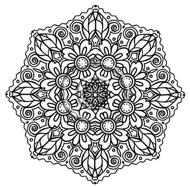 Advanced Mandala Coloring Pages Advanced Mandala Coloring Pages Fun Time