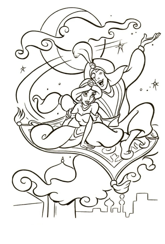 23+ Exclusive Picture of Aladdin Coloring Pages - birijus.com