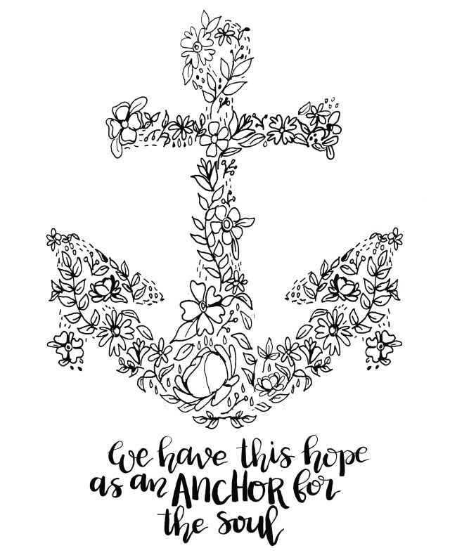 Anchor Coloring Page Anchor Coloring Page Home Fresh Pages Free Of Xmoe Me Regarding 18