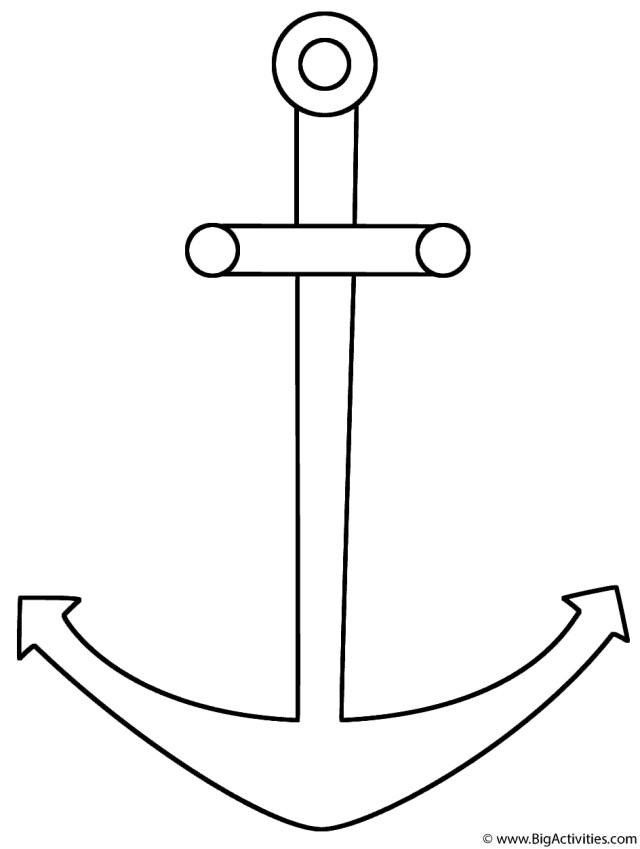 Anchor Coloring Page Anchor Coloring Page Seamarine