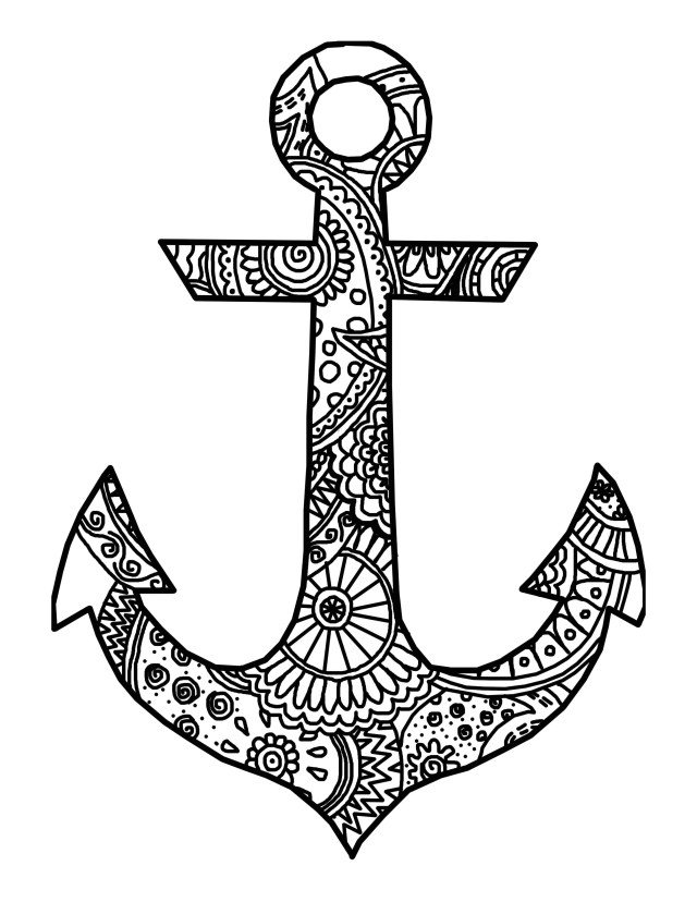 Anchor Coloring Page Anchor Coloring Page