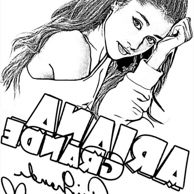 Ariana Grande Coloring Pages Ariana Grande Coloring Pages Free Printable Coloring Pages For You