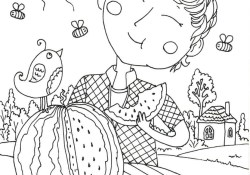 August Coloring Pages Peter Boy In August Coloring Page Free Printable Coloring Pages
