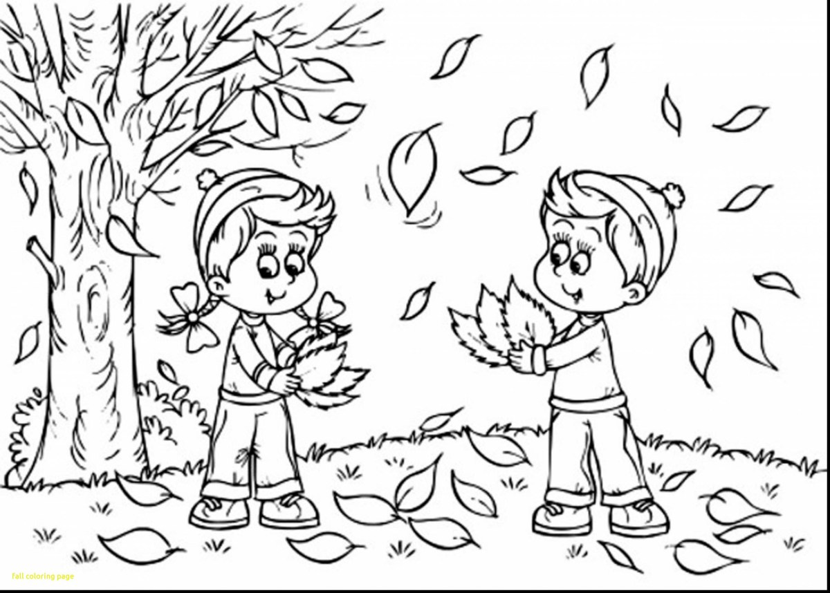 Autumn Coloring Pages Autumn Coloring Pages Printable Scene With Scarecrow Page Free For Birijus Com