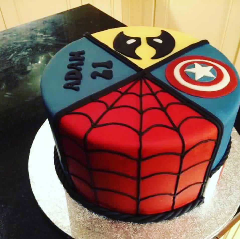 Pleasant Avengers Birthday Cake 28 Birthday Cakes And Wishes Images For Funny Birthday Cards Online Alyptdamsfinfo