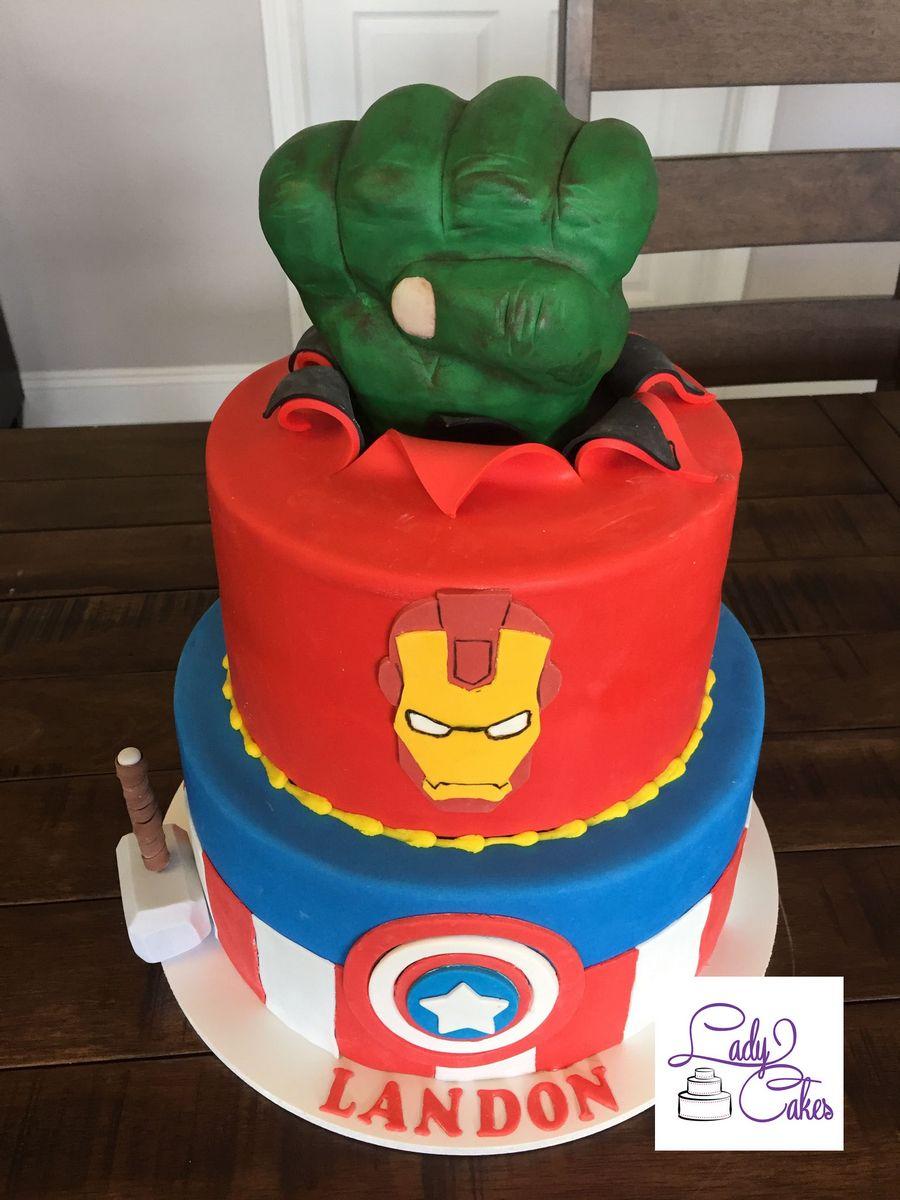 Miraculous Avengers Birthday Cake Avengers Birthday Cake Ladycakes Bakery Funny Birthday Cards Online Fluifree Goldxyz
