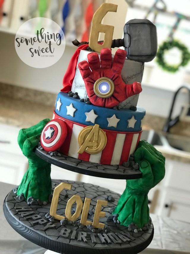 Avengers Birthday Cake Avengers Birthday Cake Marvel Hulk Ironman Captain America Thor Www