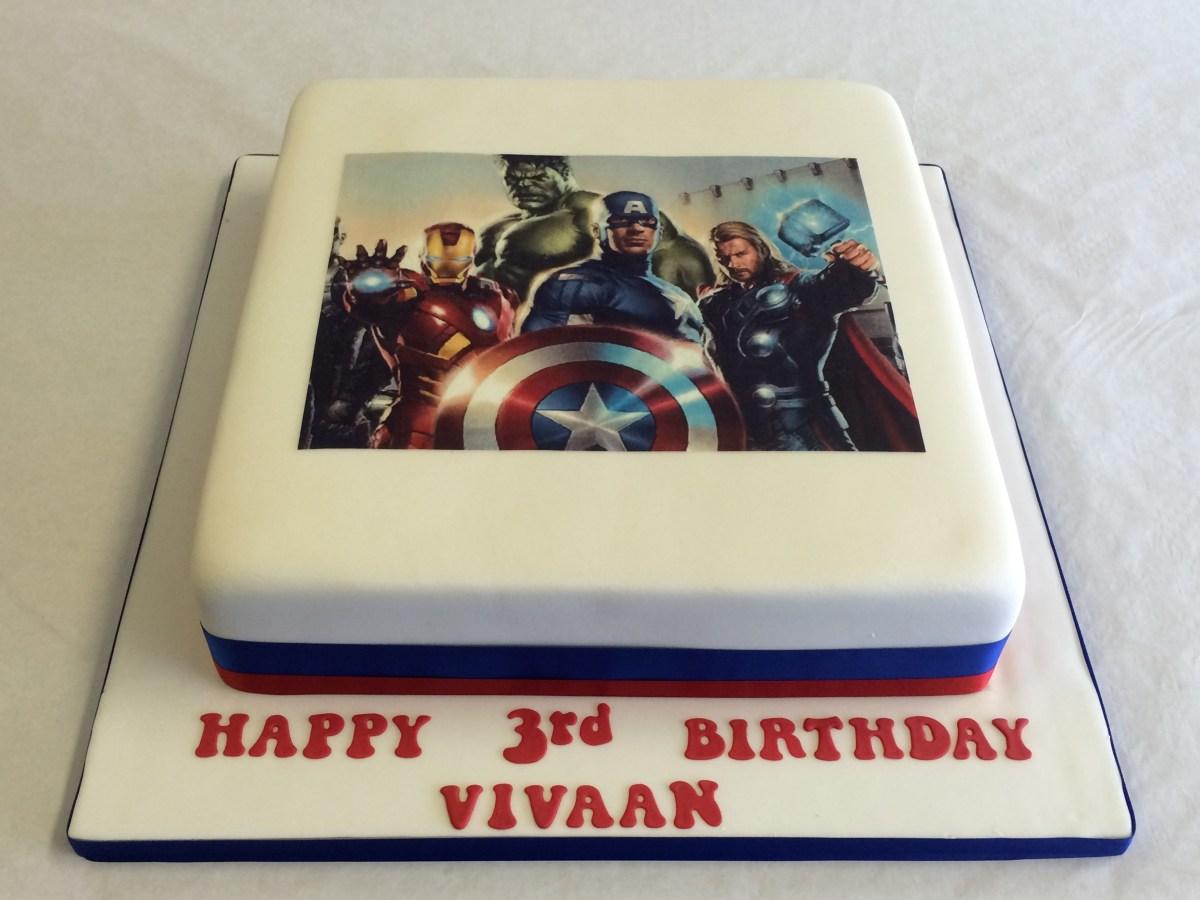Remarkable Avengers Birthday Cake Avengers Icing Print Cake Boys Birthday Personalised Birthday Cards Xaembasilily Jamesorg