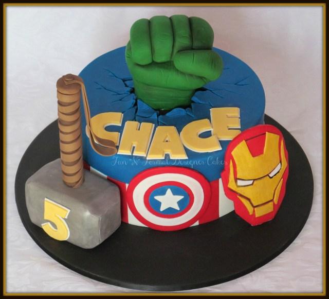 Avengers Birthday Cake Avengers Themed Birthday Cake Melissa Woodward Flickr