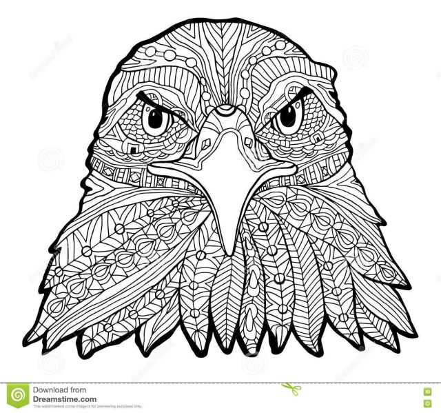 Bald Eagle Coloring Page Bald Eagle Head Coloring Page Of An Pdf Landing Free Catching Fish