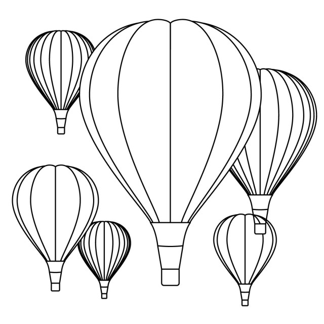 Balloon Coloring Pages Balloons Coloring Pages
