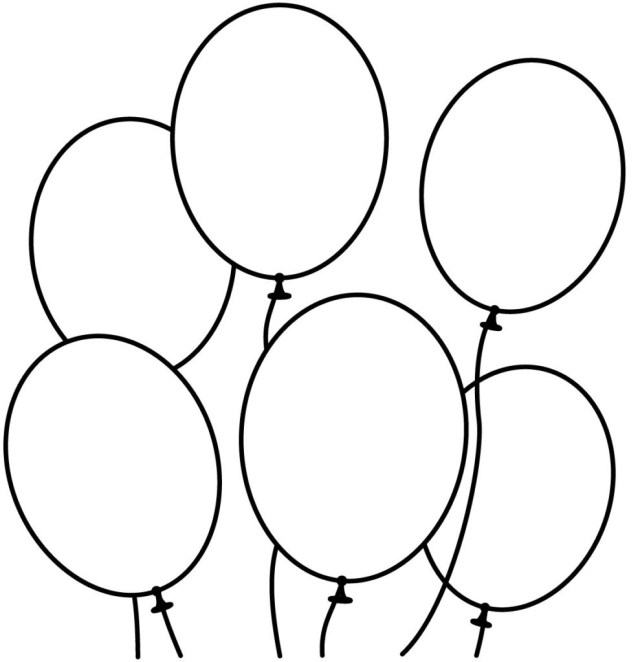Balloon Coloring Pages Free Balloon Coloring Pages Printable Coloring Page For Kids