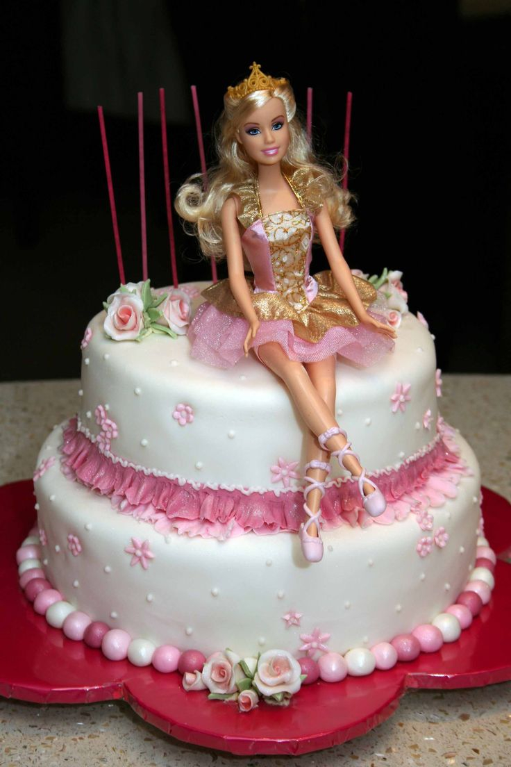 Peachy Barbie Birthday Cake 11 Kroger Barbie Birthday Cupcakes Photo Personalised Birthday Cards Veneteletsinfo
