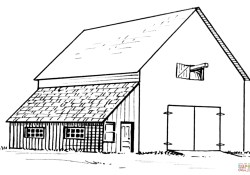 Barn Coloring Pages Barn And Lean To Coloring Page Free Printable Coloring Pages