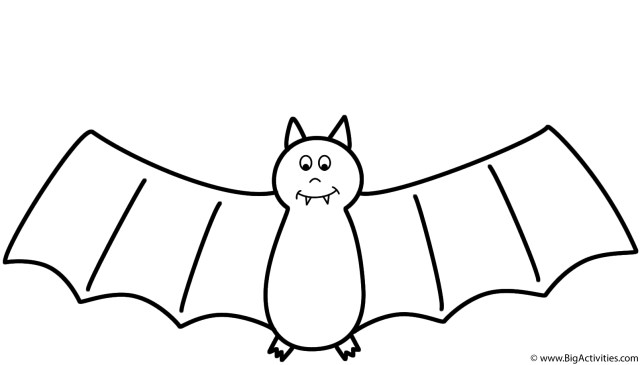 Bat Coloring Pages Bat Coloring Page Halloween