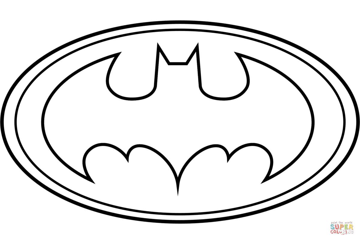 picture regarding Free Printable Batman Coloring Pages named Batman Coloring Website page Batman Emblem Coloring Webpage Absolutely free