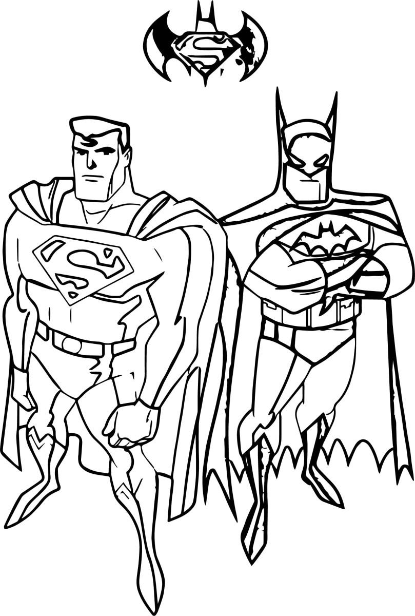 Batman Coloring Page Superman Batman Coloring Pages 4 And Thanhhoacar