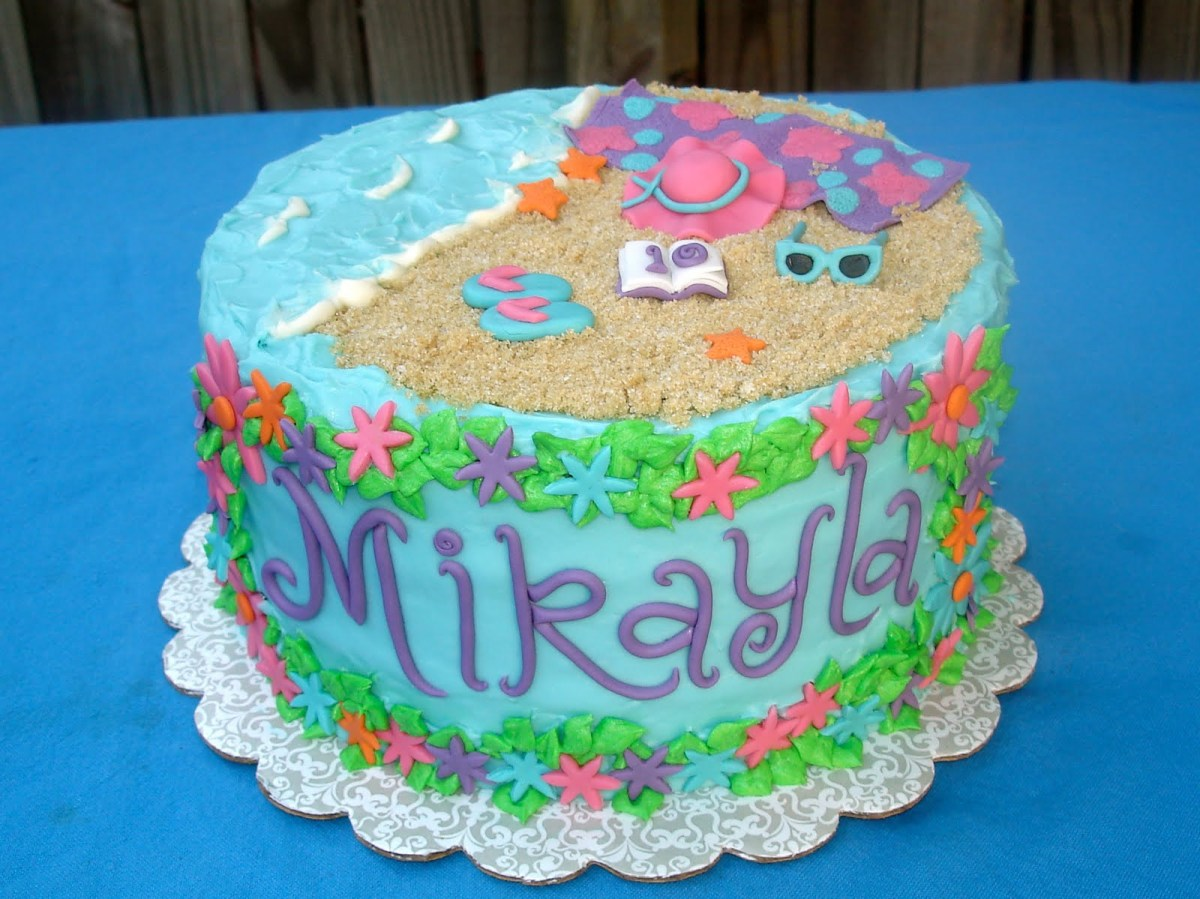 Awesome Beach Themed Birthday Cakes 7 Summer Cakes Without People Photo Funny Birthday Cards Online Inifofree Goldxyz