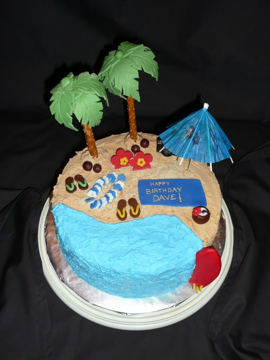 Tremendous Beach Themed Birthday Cakes Beach Themed Party Dee Cakes Pinterest Funny Birthday Cards Online Unhofree Goldxyz