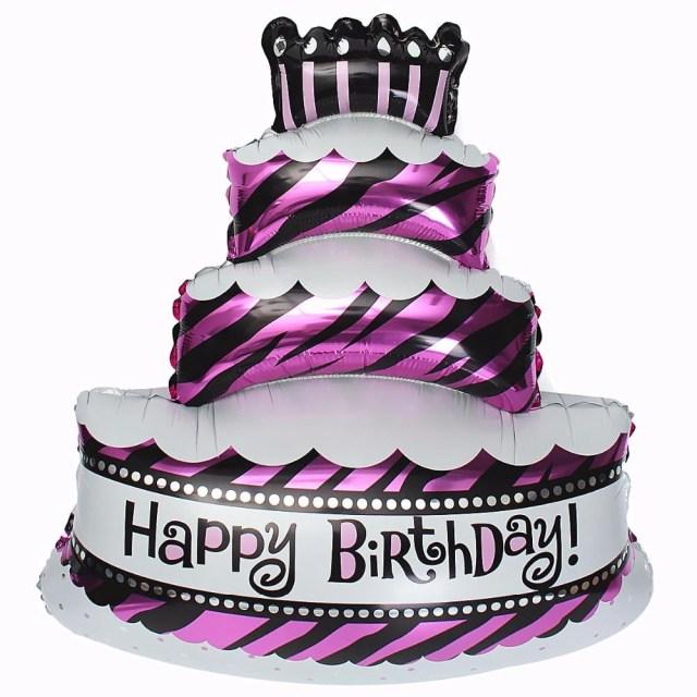 Birthday Cake And Balloons Giant Combo Cake Party Foil Balloons Birthday Cake Air Balls Happy