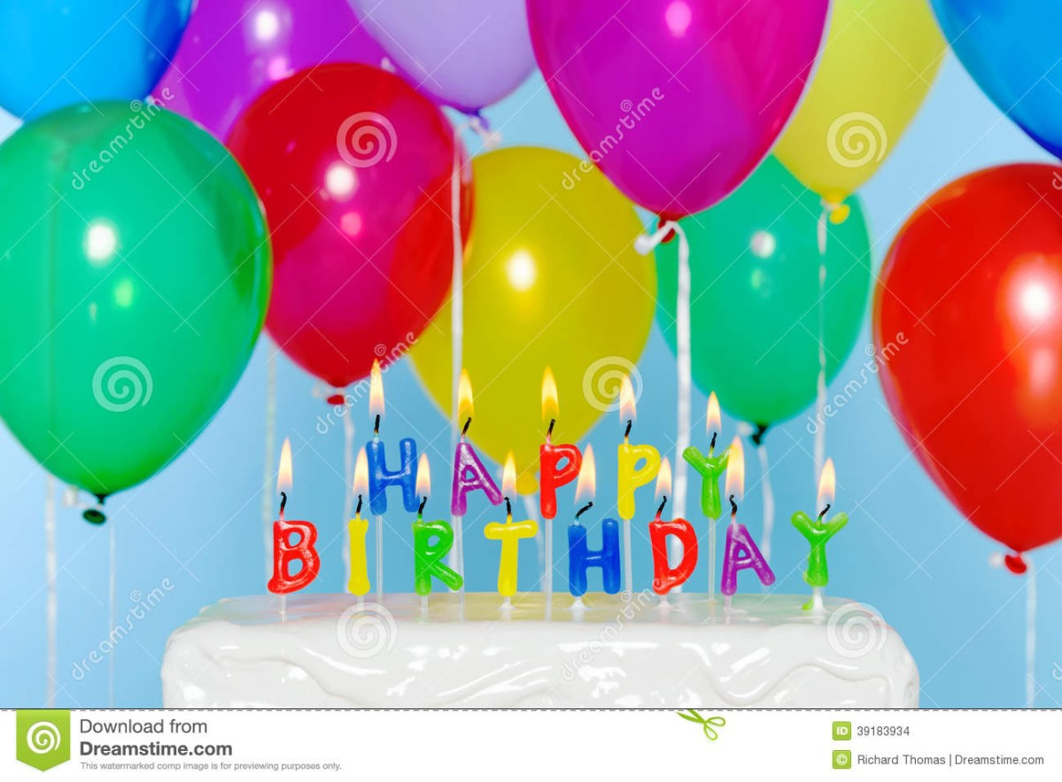 Superb Birthday Cake And Balloons Happy Birthday Candles On Cake With Funny Birthday Cards Online Sheoxdamsfinfo