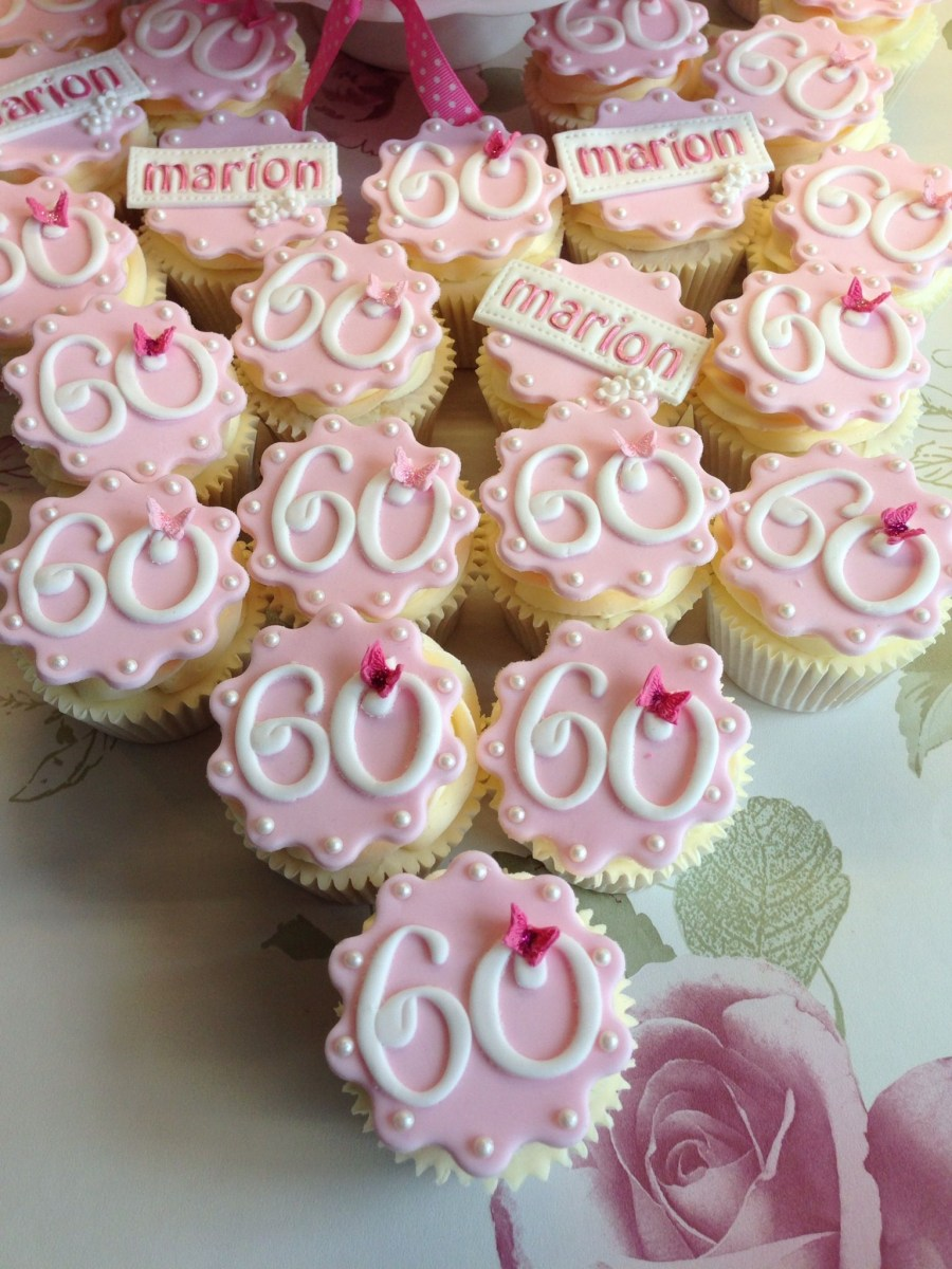 Fabulous Birthday Cake Bakery 60Th Birthday Cupcakes Robs Moms 60Th 60Th Personalised Birthday Cards Beptaeletsinfo