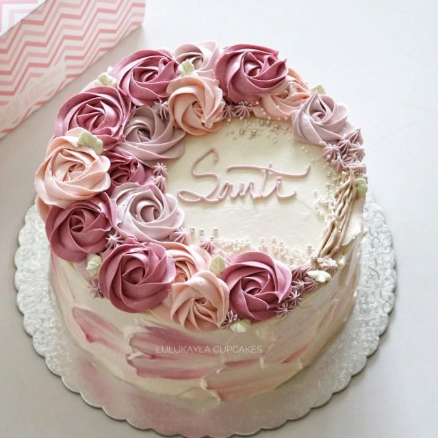Birthday Cake Flowers Flower Buttercream