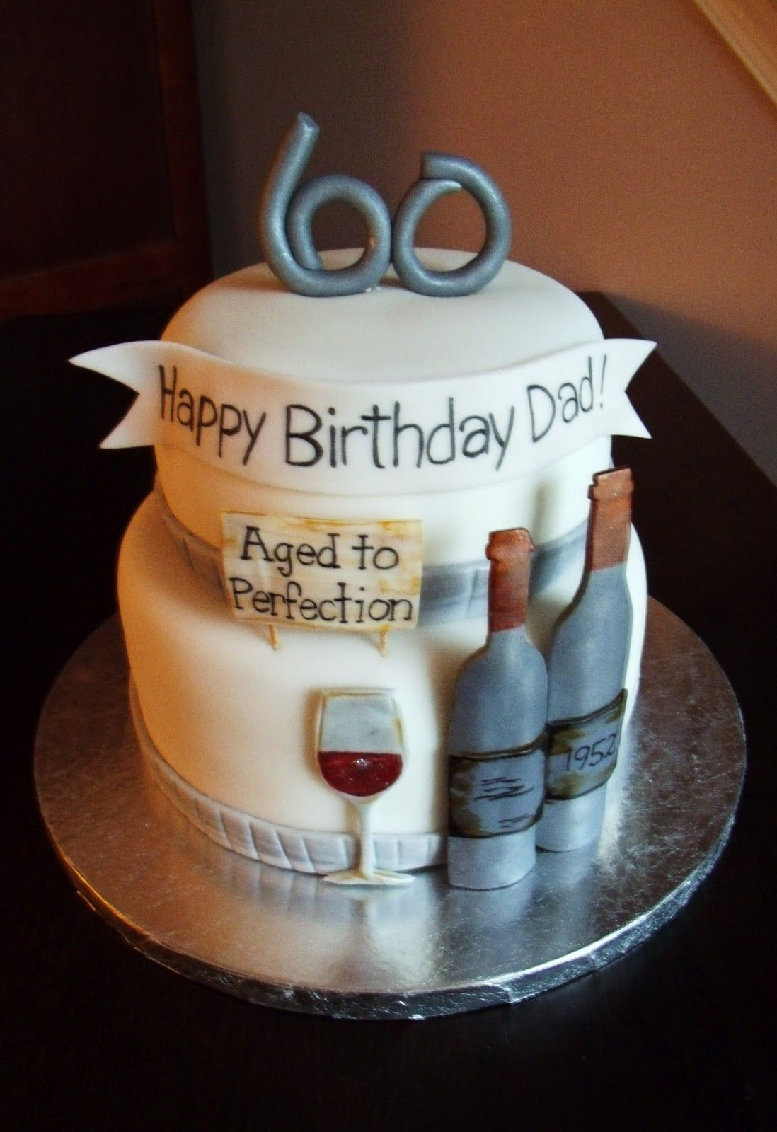 Magnificent Birthday Cake For Dad 60Th Birthday Party Ideas Google Search Big Funny Birthday Cards Online Fluifree Goldxyz
