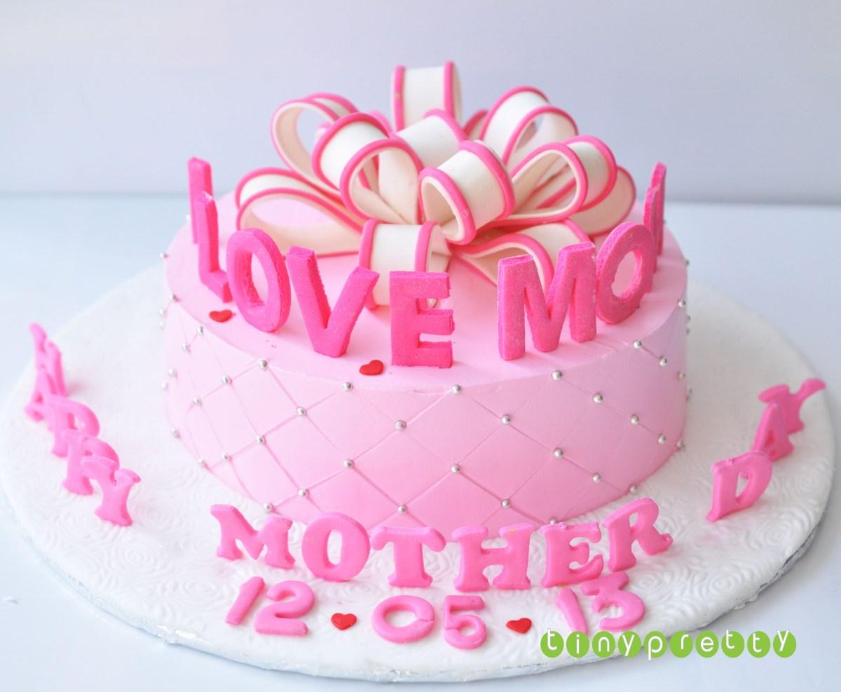 Excellent Birthday Cake For Mom Happy Mother Day Cake Birthday Fondant Cake Funny Birthday Cards Online Inifodamsfinfo