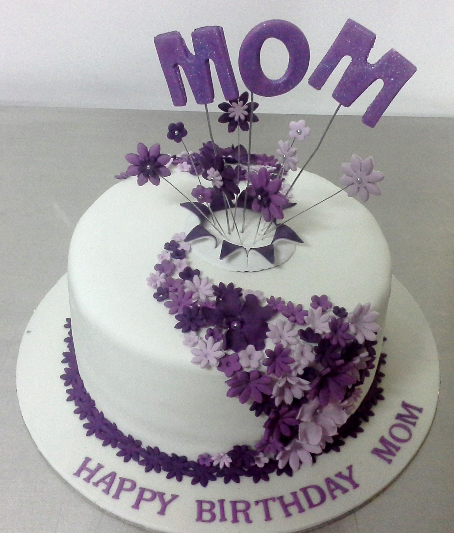 Enjoyable 27 Pretty Photo Of Birthday Cake For Mom Birijus Com Personalised Birthday Cards Veneteletsinfo