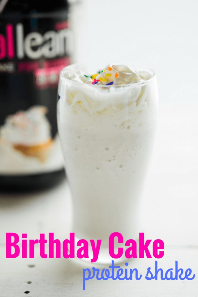 Birthday Cake Frappe Birthday Cake Protein Shake Protein Recipes