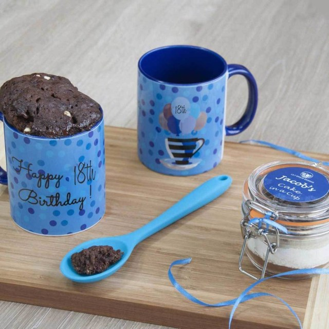 Birthday Cake In A Mug 18th Birthday Mug Cake Gift Set Lily Grace Baking Gifts