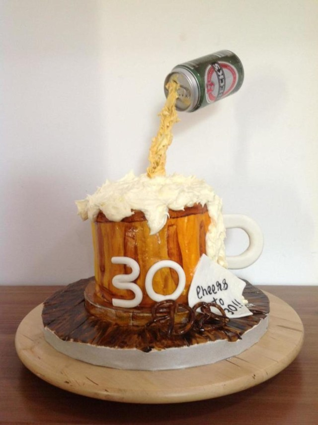 Birthday Cake In A Mug 6 Inch Beer Mug Birthday Cake Lemon Curd And Buttercream Filling