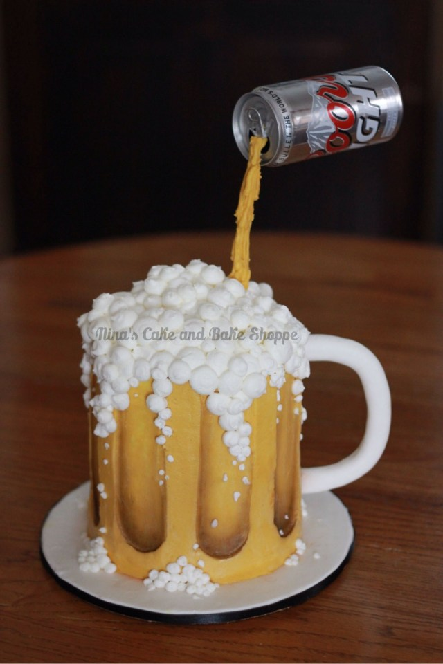 Birthday Cake In A Mug Coors Light Beer Mug Gravity Cake Birthday Cake Cakes