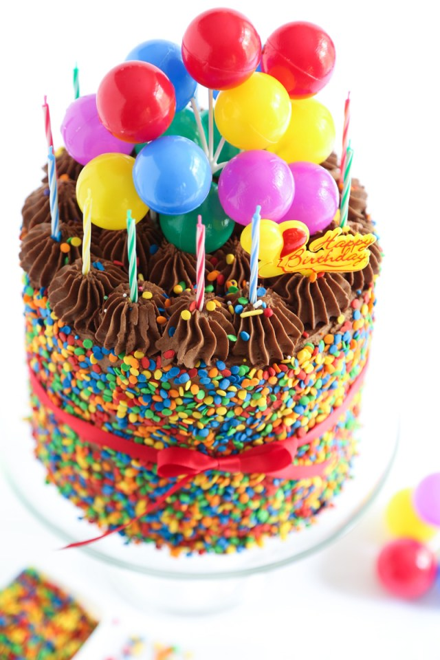 Birthday Cake With Picture The Birthday Cake Sprinkle Bakes