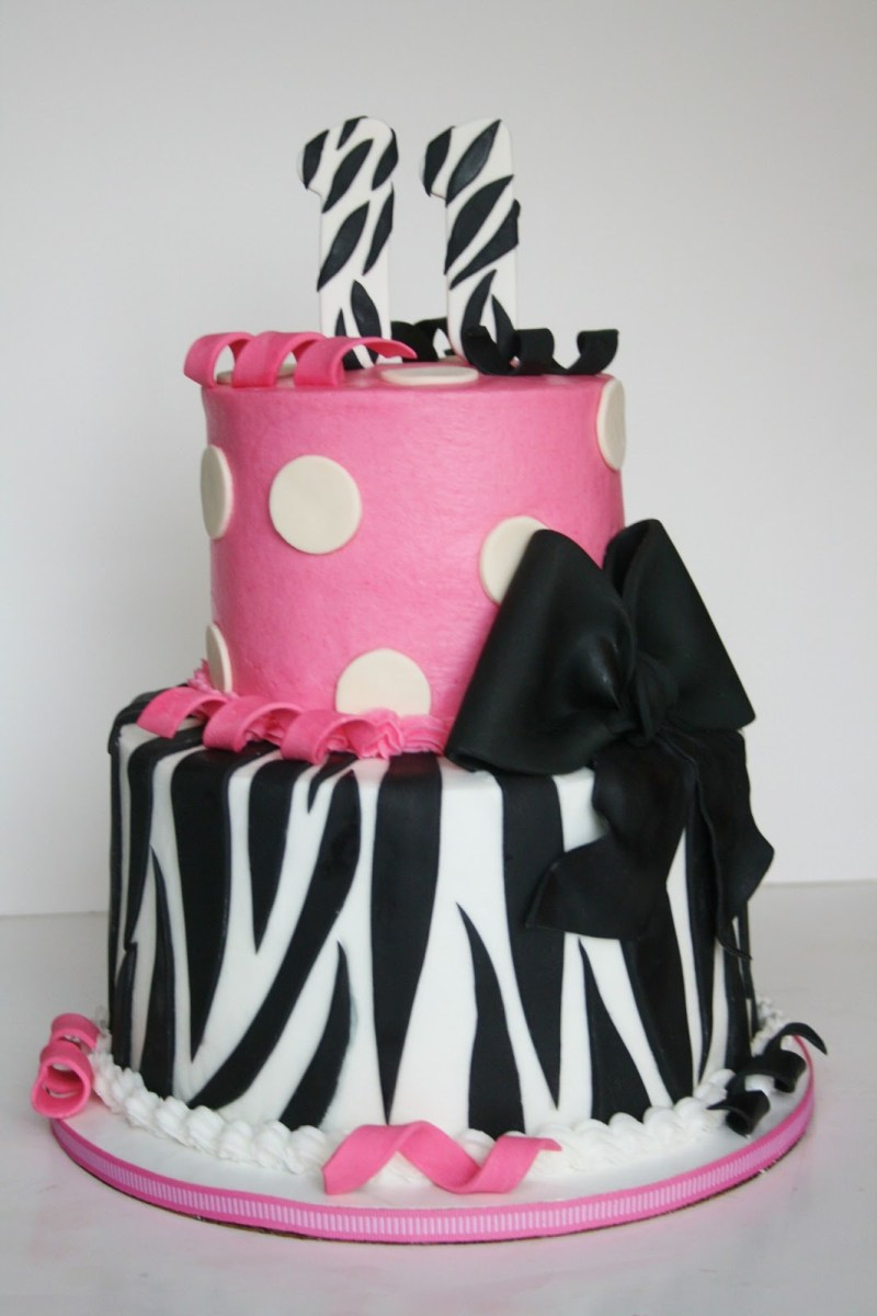 Remarkable Birthday Cakes For 11 Year Olds And Everything Sweet Hot Pink And Funny Birthday Cards Online Overcheapnameinfo