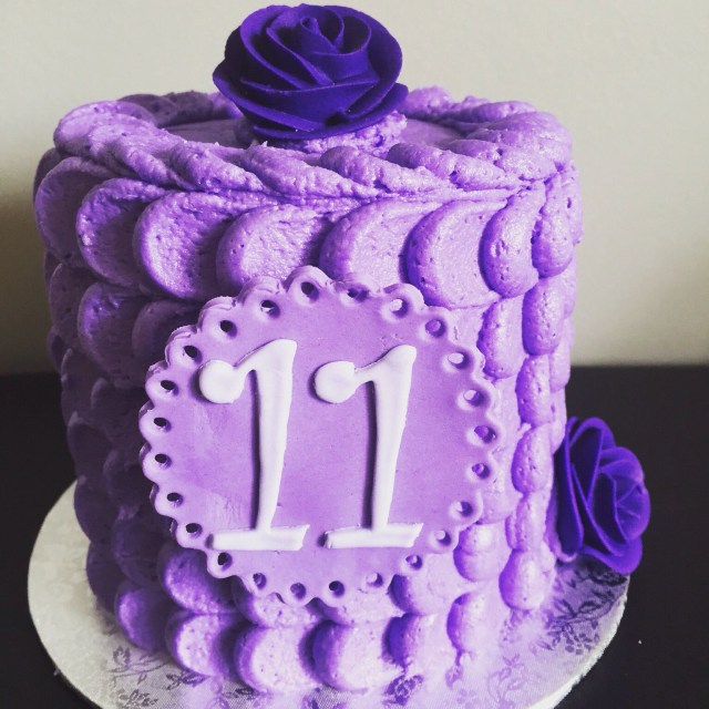Birthday Cakes For 11 Year Olds Simple Buttercream Cake Old Girl Pinterest