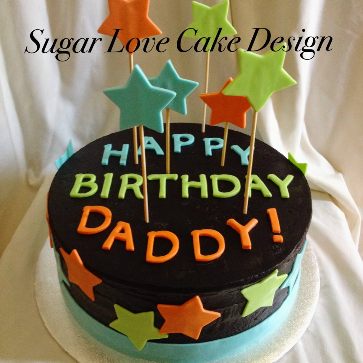 Amazing Birthday Cakes For Dad Sugar Love Cake Design Stars Birijus Com Personalised Birthday Cards Beptaeletsinfo