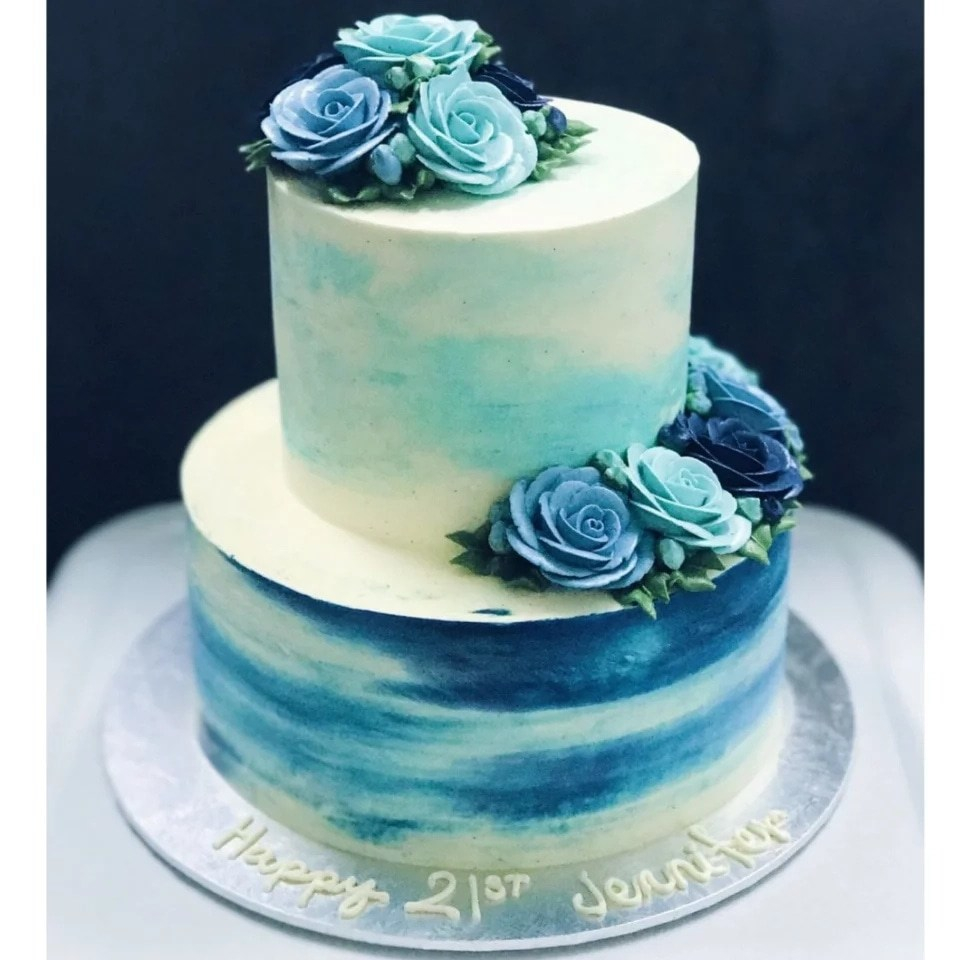 Magnificent Birthday Cakes For Ladies Beautiful Birthday Cakes For Ladies With Personalised Birthday Cards Sponlily Jamesorg